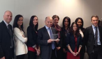 Remise du Prix Européen de l'Innovation par Total