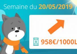 Image Tendance prix du fioul domestique : semaine du 20 mai 2019
