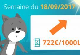 Image Tendance prix fioul domestique : semaine du 18 septembre 2017