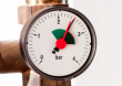 Image Pression du circuit de chauffage d'une chaudière à fioul: manomètre, vase d'expansion