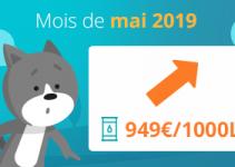 prix du fuel du mois de mai 2019