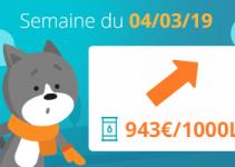 Image Tendance prix du fioul domestique : semaine du 04 mars 2019