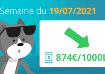 prix du fioul 19 juillet 2021